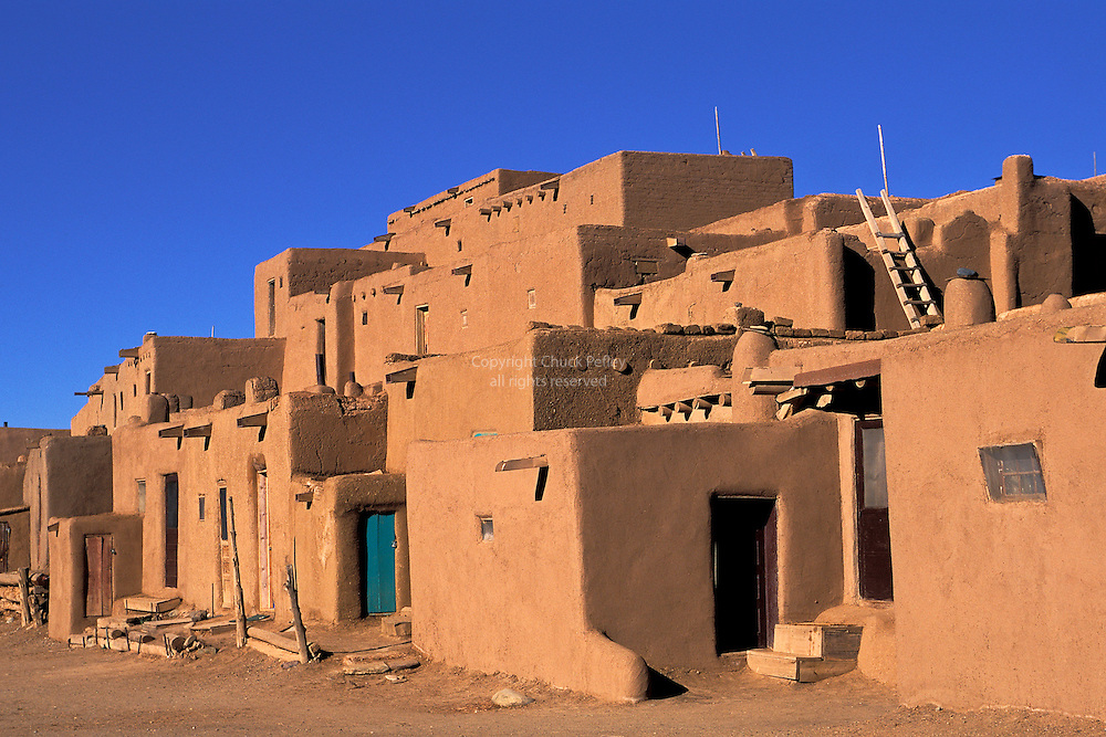 Taos pueblo new mexico usa chuck pefley designs for Building an adobe house