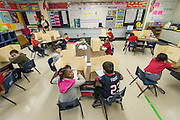 First grade students continue studies in advance of transferring to Sherman Elementary School at Crawford Elementary School, November 21, 2013.
