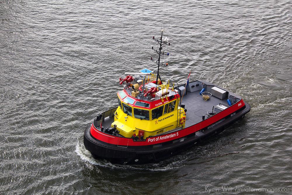 Europe, Netherlands, Amsterdam. Port of Amsterdam Pilot Boat.