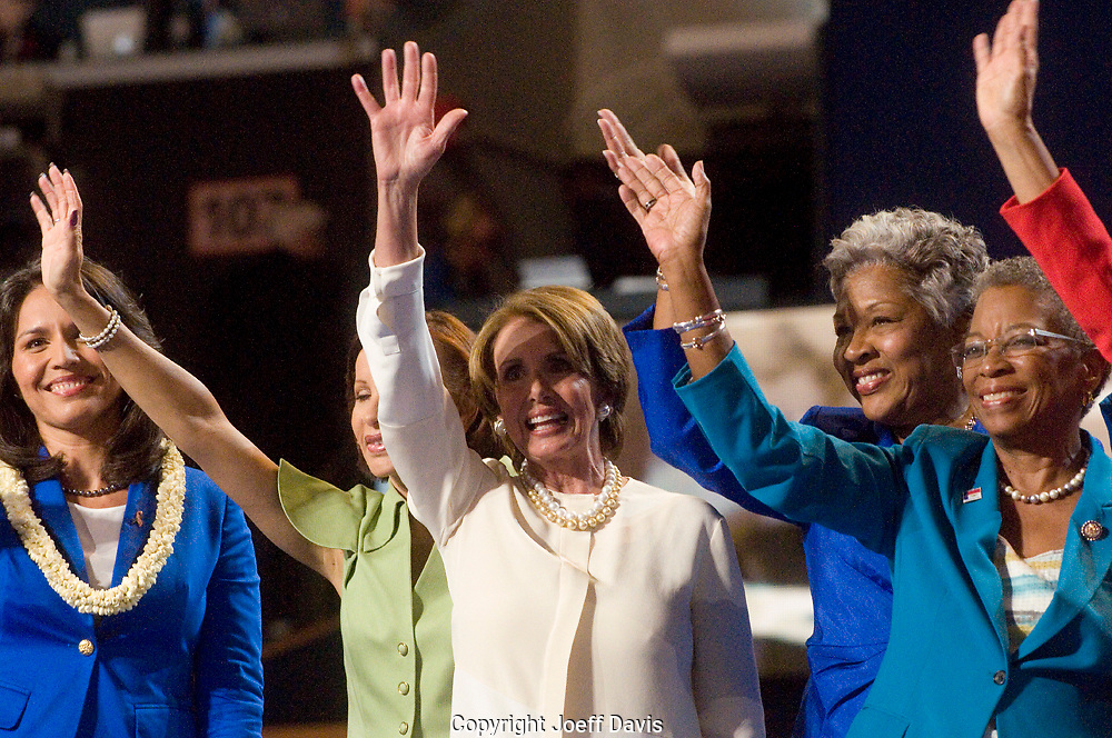 CHARLOTTE, NC - September 4, 2012 - Minority Leader of the United States House of Representatives Nancy Pelosi during remarks by the Women of the US House of Representatives at the 2012 Democratic National Convention.