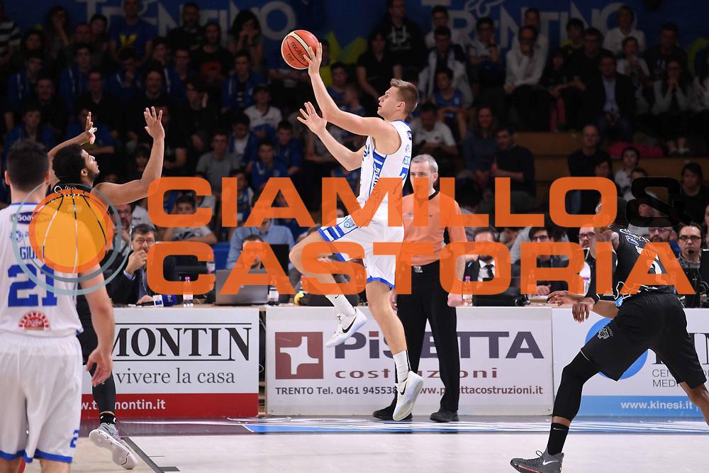 Blaz Mesicek<br /> Dolomiti Energia Aquila Basket Trento - Happy Casa New Basket Brindisi<br /> LegaBasket Serie A 2017/2018<br /> Trento, 08/04/2018<br /> Foto M.Ceretti / Ciamillo - Castoria
