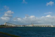 Rotterdam harbour, havens, Maeslantkering, Netherlands