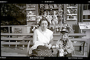 mother with child on a day out 1950s USA