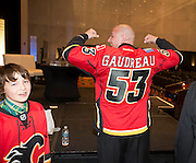Johnny Gaudreau (Boston College) family with Calgary Flames jersey during the 2014 Hobey Baker Award at the Loews Hotel, Center City in Philadelphia, PA Friday April 11th 2014<br /> <br /> Mandatory Credit: Todd Bauders/ ContrastPhotography.com