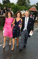 MARK & CLEO SHAND and her daughter TALITA at the wedding of Tom Parker Bowles to Sara Buys at St.Nicholas Church, Rotherfield Greys, Oxfordshire on 10th September 2005.<br />
