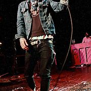 """Christofer Drew Ingle aka Never Shout Never performs on October 19, 2010 in support of """"Harmony"""" at the Showbox at the Market in Seattle, Washington"""