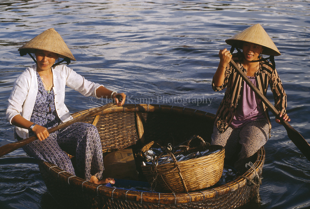 Basket boat in Phu Quoc