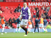Wayne Rooney Forward of Manchester United in warm up during the Premier League match between Manchester United and Swansea City at Old Trafford, Manchester, England on 30 April 2017. Photo by Phil Duncan.