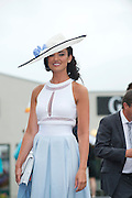 01/08/2013   Maire Hughes  at the Anthony Ryan's Best Dressed on Ladies day at the Galway Races . Picture:Andrew Downes