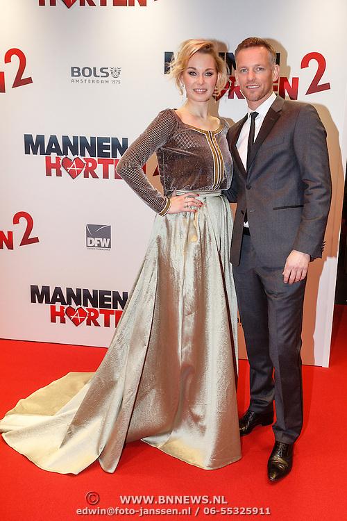 NLD/Amsterdam/20151214 - Film premiere Mannenharten 2, Maartje van de Wetering en Barry Atsma