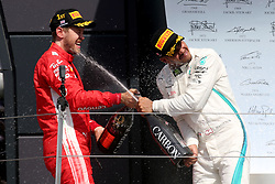 July 8, 2018 - Silverstone, Great Britain - Motorsports: FIA Formula One World Championship 2018, Grand Prix of Great Britain, ..#5 Sebastian Vettel (GER, Scuderia Ferrari), #44 Lewis Hamilton (GBR, Mercedes AMG Petronas Motorsport) (Credit Image: © Hoch Zwei via ZUMA Wire)