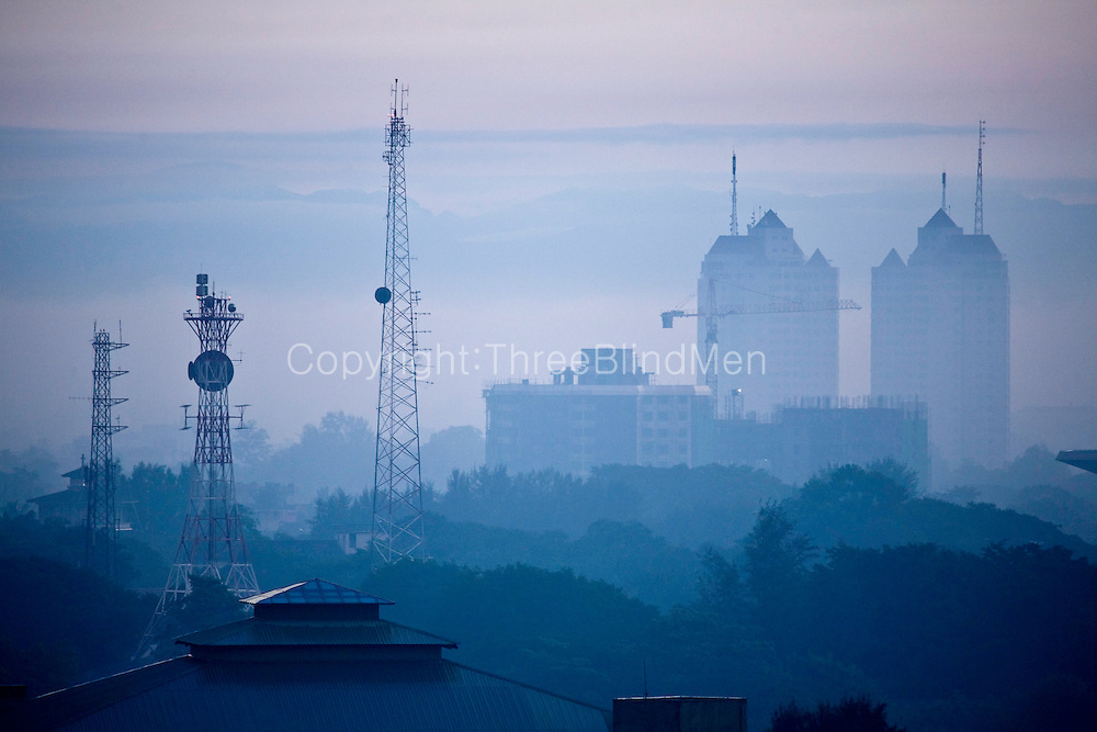 Colombo at dawn. Early morning views from Colombo. View in the distance is Royal Park. Sri Lanka