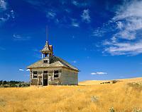 Abandoned schoolhouse near Winifred Montana USA