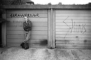 Neville by Garages, Hawthorne Road, High Wycombe, UK, 1980s.