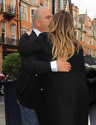 Kim Kardashian meets up for lunch with billionaire TopShop owner Sir Philip Green at Georges Bar in Mayfair, London, UK. 18/01/2014<br />