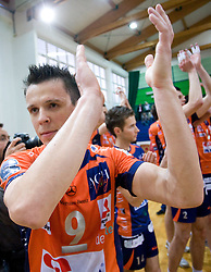 Matija Plesko of ACH at last final volleyball match of 1.DOL Radenska Classic between OK ACH Volley and Salonit Anhovo, on April 21, 2009, in Arena SGS Radovljica, Slovenia. ACH Volley won the match 3:0 and became Slovenian Champion. (Photo by Vid Ponikvar / Sportida)