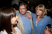 TAIES NEZAM;IVO DAWNAY; RACHEL JOHNSON, Book party for Janine di Giovanni's Ghosts by Daylight. Blake's Hotel. South Kensington. London. 12 July 2011. <br /> <br />  , -DO NOT ARCHIVE-© Copyright Photograph by Dafydd Jones. 248 Clapham Rd. London SW9 0PZ. Tel 0207 820 0771. www.dafjones.com.