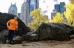 02-11-2013 ALGEMEEN: BVDGF NY MARATHON: NEW YORK <br /> Parcours verkenning en laatste training in het Central Park / Marc<br /> ©2013-FotoHoogendoorn.nl
