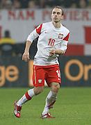 POZNAN 17/11/2010.FOOTBALL INTERNATIONAL FRIENDLY.POLAND v IVORY COAST.Adrian Mierzejewski of Poland ..Fot: Piotr Hawalej / WROFOTO