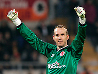 AS ROMA-MIDDLESBOROUGH 15.03.2006 UEFA CUP<br /> Middlesbrough's goalkeeper Mark Schwarzer	of Australia jubilates after his team's goal<br /> PHOTO BRUNO CONTI FOTOSPORTS INTERNATIONAL
