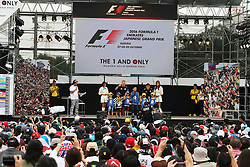 (L to R): Kevin Magnussen (DEN) Renault Sport F1 Team and team mate Jolyon Palmer (GBR) Renault Sport F1 Team RS16 at the fans' stage.<br /> 08.10.2016. Formula 1 World Championship, Rd 17, Japanese Grand Prix, Suzuka, Japan, Qualifying Day.<br /> Copyright: Moy / XPB Images / action press