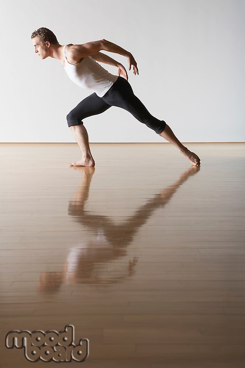 Ballet Dancer leaning forward