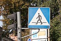 Polish sign for Pedestrian Crossing in Krakow Poland