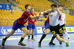 Ioshua Thiele of Germany during handball match between National teams of Serbia and Germany in Main Round of 2018 EHF U20 Men's European Championship, on July 25, 2018 in Arena Zlatorog, Celje, Slovenia. Photo by Urban Urbanc / Sportida