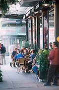 Outdoor dining at Absynthe restaurant on Hayes Street,.san francisco