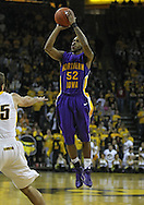 December 07 2010: Northern Iowa Panthers guard Anthony James (52) pulls up for a shot during the first half of their NCAA basketball game at Carver-Hawkeye Arena in Iowa City, Iowa on December 7, 2010. Iowa defeated Northern Iowa 51-39.
