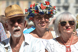 August 15, 2017 - Krakow, Poland - 171 herbal and floral bouquets in three categories (small, traditional and professional) were submitted to this year's contest 'Wonderful Power of Bouquets'  that took place in Krakow's Small Square. .On Tuesday, August 15, 2017, in Krakow, Poland. (Credit Image: © Artur Widak/NurPhoto via ZUMA Press)