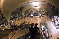 Iran Air pilots walking to their flight, Suvarnabhumi International Airport, Bangkok, Thailand