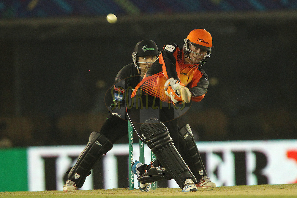 Sam WHITEMAN of the Perth Scorchers  launches a huge six during match 4 of the Oppo Champions League Twenty20 between the Dolphins and the Perth Scorchers held at the Punjab Cricket Association Stadium, Mohali, India on the 20th September 2014<br /> <br /> Photo by:  Ron Gaunt / Sportzpics/ CLT20<br /> <br /> <br /> Image use is subject to the terms and conditions as laid out by the BCCI/ CLT20.  The terms and conditions can be downloaded here:<br /> <br /> http://sportzpics.photoshelter.com/gallery/CLT20-Image-Terms-and-Conditions-2014/G0000IfNJn535VPU/C0000QhhKadWcjYs