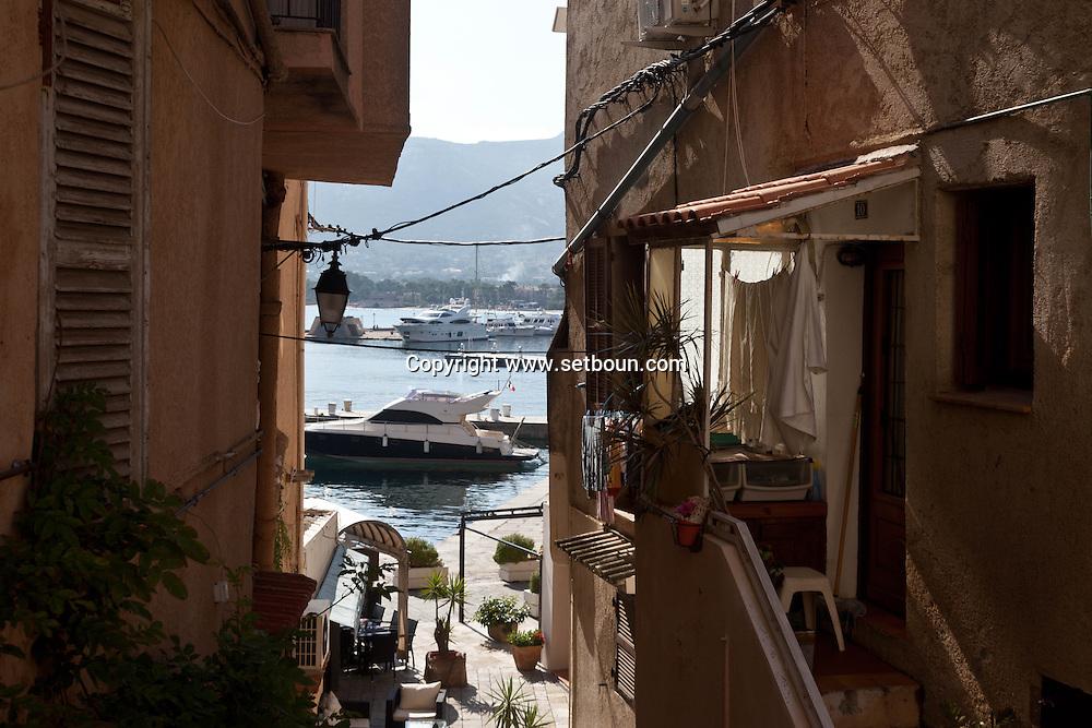 Corsica. France. Calvi port, Corsica North, France