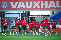 CARDIFF, WALES - Tuesday, August 9, 2011: Wales players during a training session at the Cardiff City Satdium ahead of the International Friendly match against Australia. (Photo by David Rawcliffe/Propaganda)