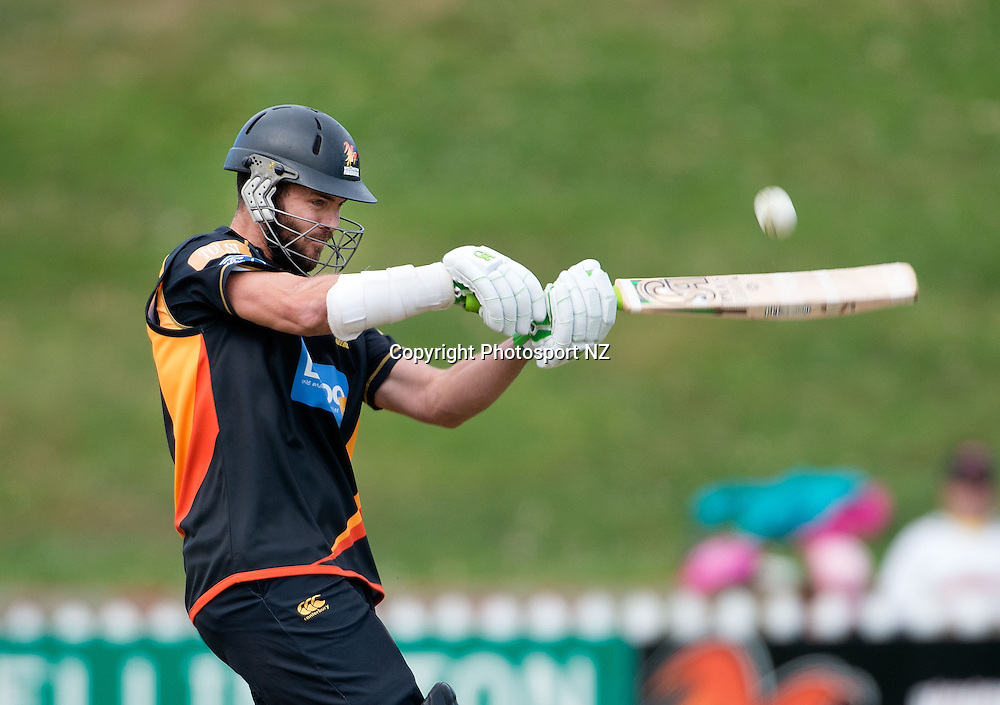 James Franklin captain of Wellington bats during the Ford Trophy One Day cricket match between the Wellington Firebirds and Central Districts at the Basin Reserve in Wellington on Sunday the 23rd March 2014.  Photo by Marty Melville/Photosport.co.nz