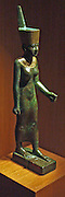 Ptah 3rd Interim Period, Dynasties 21-24 (ca 1070-712 B.C.) Bronze gilding, glass inlay.