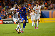 Frankie Amaya (24) of FC Cincinnati and Darlington Nagbe (6) of Atlanta United FC compete for the ball during a MLS soccer game, Wednesday, September 18, 2019, in Cincinnati, OH. Atlanta defeated Cincinnati 2-0. (Jason Whitman/Image of Sport)