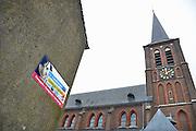 Nederland, Born, 1-3-2013Reclame, muurreclame voor dagblad de Limburger en het Limburgs dagblad. Twee regionale kranten uit Limburg die uitvoertig berichtten over het seksuele misbruik in de katholieke kerk.Foto: Flip Franssen