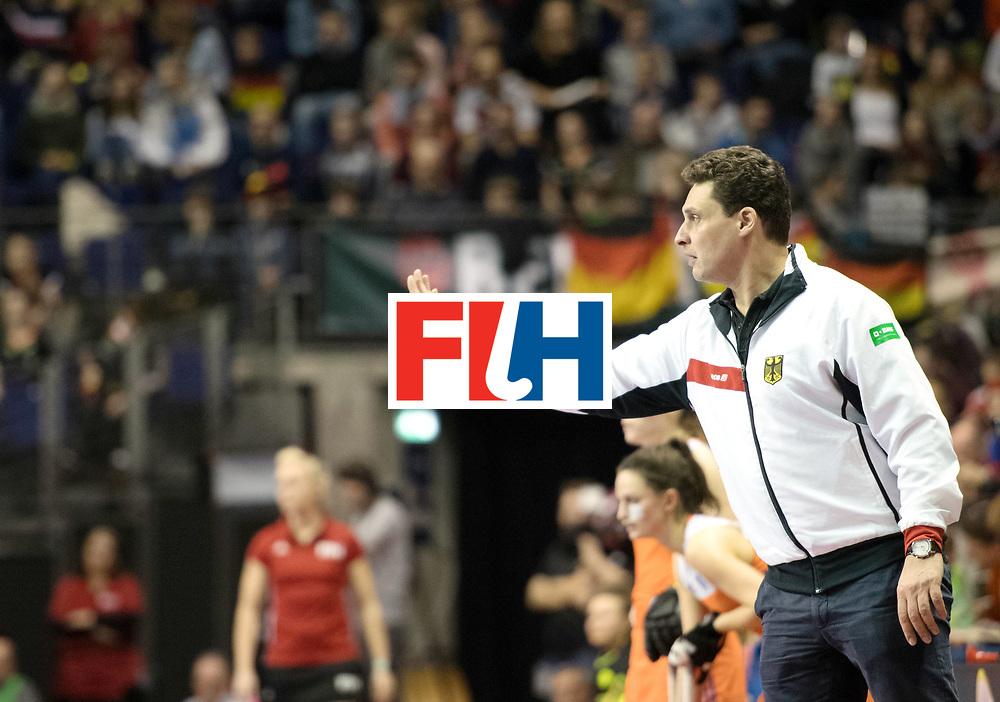 BERLIN - Indoor Hockey World Cup<br /> Final: Netherlands - Germany<br /> foto: BOUCHOUCHI Akim<br /> WORLDSPORTPICS COPYRIGHT FRANK UIJLENBROEK