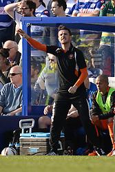 Blackpool's manager Barry Ferguson  - Photo mandatory by-line: Mitchell Gunn/JMP - Tel: Mobile: 07966 386802 29/03/2014 - SPORT - FOOTBALL - Loftus Road - London - Queens Park Rangers v Blackpool - Championship