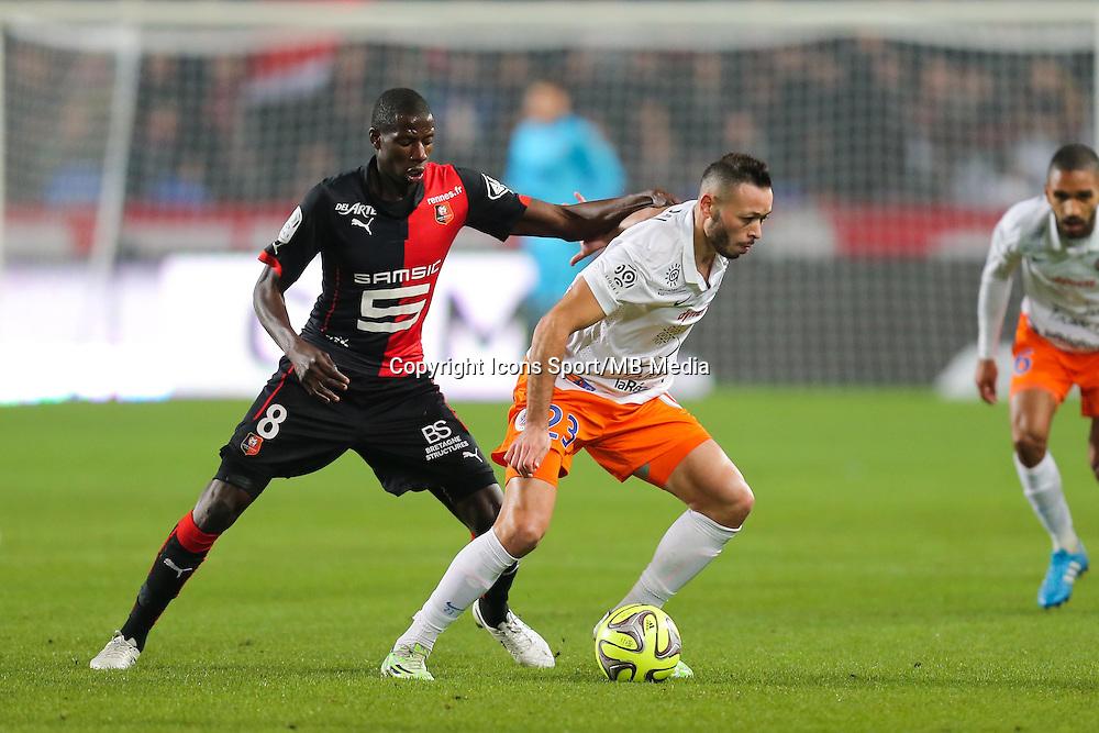 Jamel SAIHI / Abdoulaye DOUCOURE - 06.12.2014 - Rennes / Montpellier - 17eme journee de Ligue 1 -<br />Photo : Vincent Michel / Icon Sport