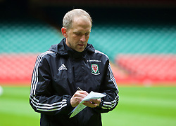 CARDIFF, WALES - Saturday, March 26, 2016: Wales' coach Paul Trollope during a training session at the Millennium Stadium ahead of the International Friendly match against Ukraine. (Pic by David Rawcliffe/Propaganda)