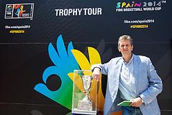 Predrag Bogosavljev at FIBA Basketball World Cup Spain 2014 Trophy Tour, on June 22, 2014 in Ban Jelacic Square, Zagreb, Croatia. Photo By Vid Ponikvar / Sportida