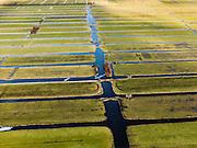 Nederland, Utrecht, Gemeente Woerden, 20-02-2012; Polder Teckop, regelmatige verkaveling als gevolg van cope-ontginning.Polder. Regular land division due land reclamation..luchtfoto (toeslag), aerial photo (additional fee required).copyright foto/photo Siebe Swart