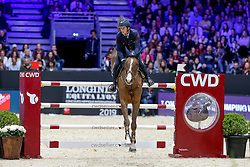 De Luca Lorenzo, ITA, Don Flamenco vd Kranenburg<br /> LONGINES FEI Jumping World Cup™ - Lyon 2019<br /> © Hippo Foto - Julien Counet<br /> 03/11/2019