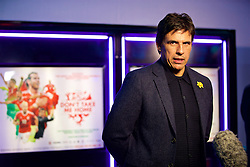 NANTGARW, WALES - Wednesday, March 1, 2017: Wales manager Chris Coleman is interviewed as he attends the premier of Don't Take Me Home - the incredible true story of Wales' Euro 2016 at Showcase Cinema Nantgarw on St. David's Day. (Pic by David Rawcliffe/Propaganda)