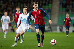 Zajc Miha of Slovenia and Havard Nordtveit of Norway during football match between National Teams of Slovenia and Norway in Final Tournament of UEFA Nations League 2019, on November 16, 2018 in SRC Stozice, Ljubljana, Slovenia. Photo by Urban Urbanc / Sportida