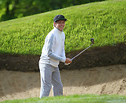 Niall Horan In a bunker at the BMW PGA Championship Celebrity Pro-Am Challenge at the Wentworth Club, Virginia Water, United Kingdom on 20 May 2015