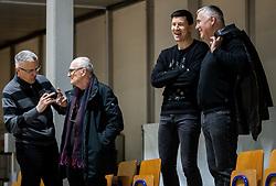 Peter Vilfan, Vlado Miheljak, Vlado Ilievski and Zoran Predin during basketball match between KK Petrol Olimpija and KK Cedevita in 21st Round of ABA League 2018/19, on March 10, 2019, in Hala Tivoli, Ljubljana, Slovenia. Photo by Vid Ponikvar / Sportida